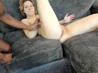cookiesncreame Man undresses his beautiful GF and caresses her body. on live cam