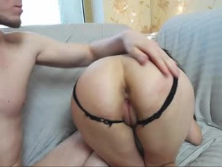 madness_show Guy takes dick out of pussy and cums on round buttocks on live cam