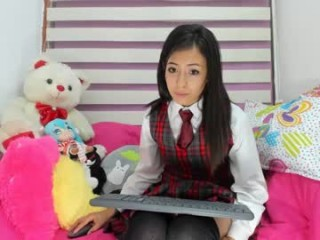 little_dinaone Girlie kisses her boyfriend and then bounds on his dick on live cam