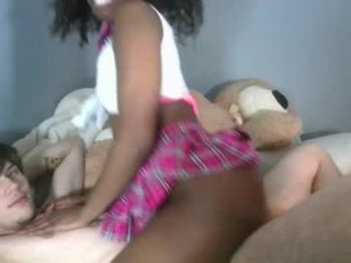 chocopuppi Girlie seduces guy to have fucking in their bathroom. on live cam