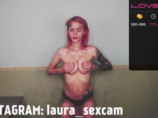 lauramalina Man cums on pretty cam doll after sex with her in doggy style on live cam